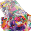 Assorted Rainbow Craft Feathers 225g  small