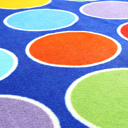 Rainbow Placement Floor Mat Circle  large