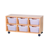 6 Cubby Tray Unit H460mm  small