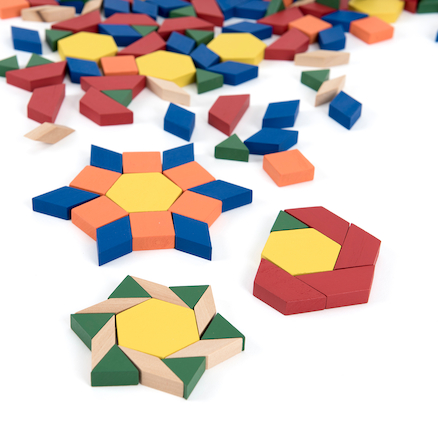 Pattern Blocks Wood (250 pcs)  large