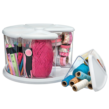Rotating Carousel Craft Organiser 9 Canisters  medium