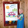 Portable Indoor/Outdoor Nylon Fabric Easels 6pk  small