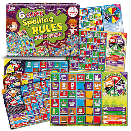 6 Super Spelling Rules Board Games  large