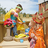 Outdoor Wooden Role Play Castle  small