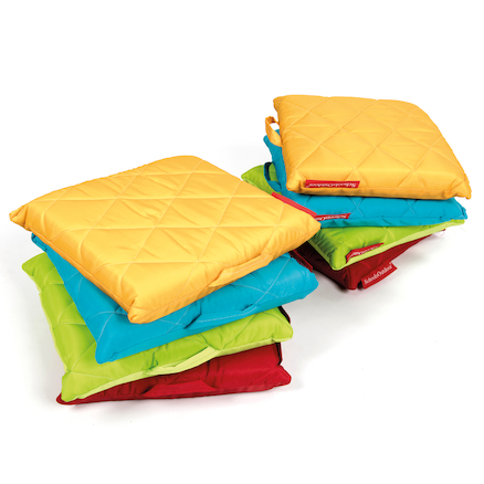 Outdoor Quilted Cushions 8pk Primary Colours  large