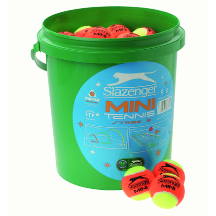 Bucket of Orange Mini Tennis Balls 60pk  large