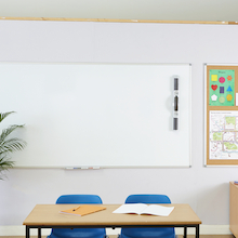Aluminium Frame Non Magnetic Whiteboard  medium