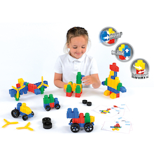 Chunky Construction Snapo Junior Set 100pcs  medium