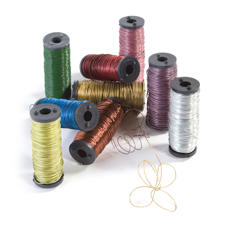 Assorted Coloured Modelling Wire 9pk  large