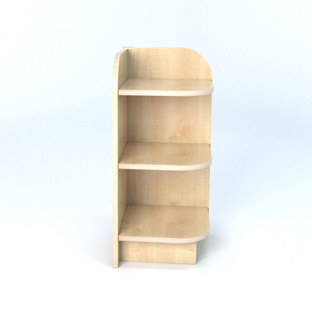 Right Hand Library End Bookcase In Maple  large