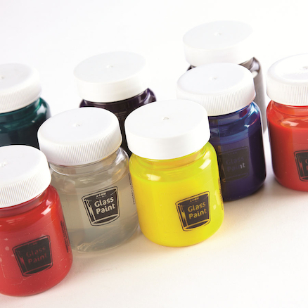 Glass Paints Assorted 50ml 8pk  large