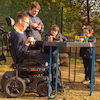 Adjustable Active World Stand for Wheelchairs  small
