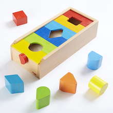 Wooden Shapes Sorting Box  medium