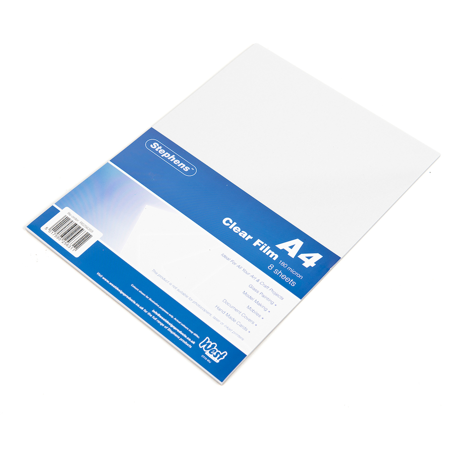Buy Glass Painting Acetate Sheets A4 8pk Tts