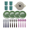 Green Bean Recycled Role Play Dinner Set 22pk  small