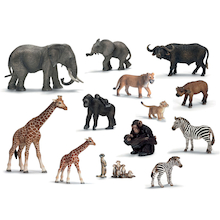 African Animals and Their Young Set 14pcs  medium