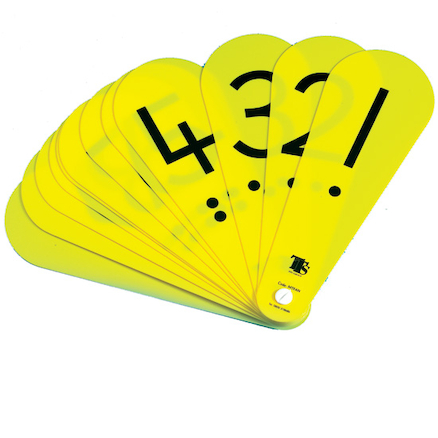Children\'s Number Fans with Decimal Point  large