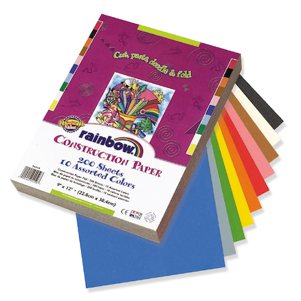 Construction Paper Assorted  large