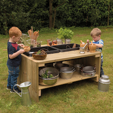 Outdoor Wooden Group Discovery Table  medium