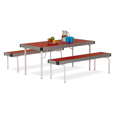 Fast Folding Dining Tables and Benches Set  large
