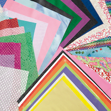 Assorted Collage Fabric Pieces 36pk  medium