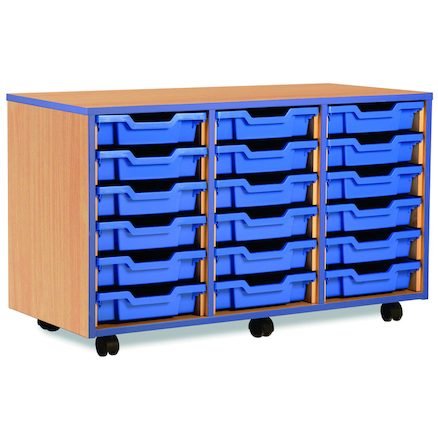 Blue Edge Tray Storage Units  large