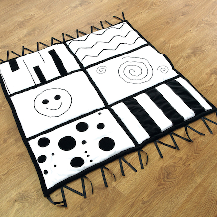Baby Black and White Soft Mat 100 x 100cm  large