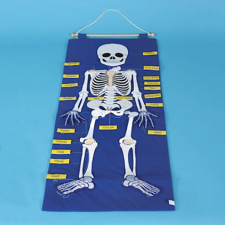 Fabric Skeleton Wall Hanging  large