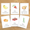 Fruit and Vegetables French Flashcards A4 22pk  small