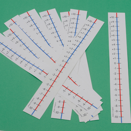 Dry Wipe \-10 to +10 Table Top Number Lines 10pk  large
