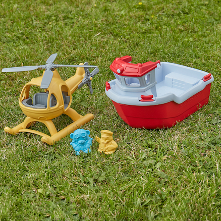 Rescue Boat with Helicopter 4pk  large