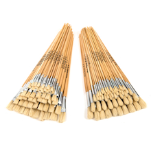 Long Handled Hog Hair Paint Brushes 120pk  medium