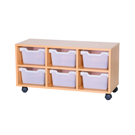 6 Cubby Tray Unit H460mm  large
