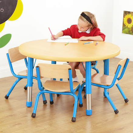 Copenhagen Round Classroom Table Red  large