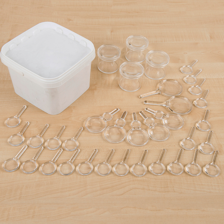 Class Pack of hand lenses and magnifiers  large