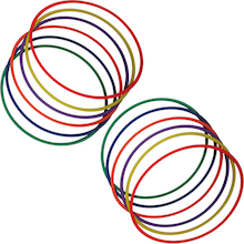 Coloured Hula Hoops 12pk  medium