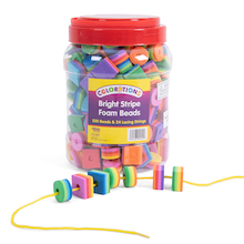 Bright Stripe EVA Beads 200pk  medium