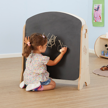 Toddler Mini Chalkboard and Whiteboard Easel  medium