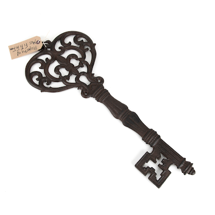 Giant Metal Fairytale Key  large