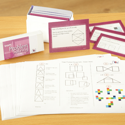 Understanding Shapes Problem Solving Cards  large