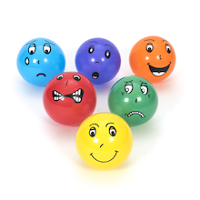 Plastic Emotion Balls 6pk  medium