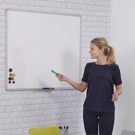 Magnetic Drywipe Whiteboard H1200 x W1800mm  large
