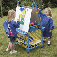 Double Sided Easel With Drying Rack   medium