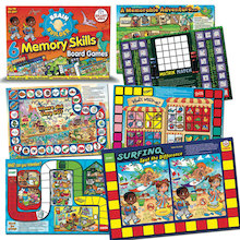 Memory Skills Board Games A3 6pk  medium