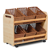 Millhouse Tilted Tote Storage Trolley 6 Tubs  small