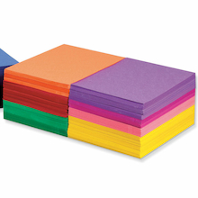 Construction Paper Assorted 230 x 300mm 2400pk  medium