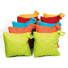 Outdoor Quilted Carry Cushions 10pk  medium