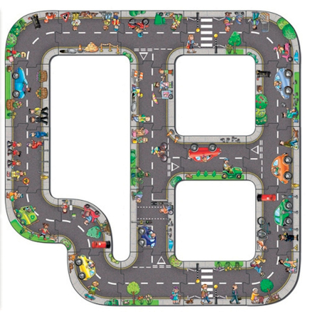 Giant Road Illustrated Jigsaw Puzzle  large