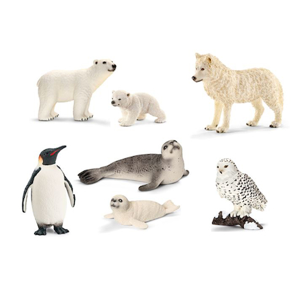 Arctic and Antarctic Animals 7pcs  large