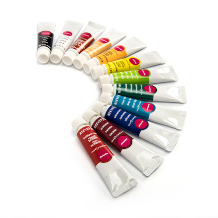Reeves Gouache Assorted Paint Tubes 12ml 12pk  large